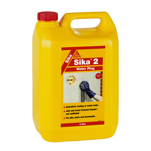 Sika 2 Water Plug Leak Stopping Liquid 5L Red