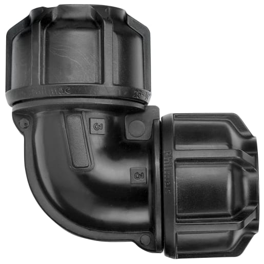Philmac Elbow 50mm Black