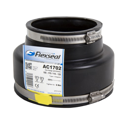 Flexseal AC1922 Adaptor Coupling 120mm Black