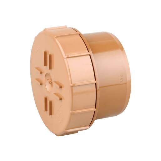 OsmaDrain Single Socket Screwed Access Cover Spigot End 160mm