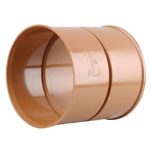 Osma UltraRib Double Socket Pipe Coupler 300mm Brown
