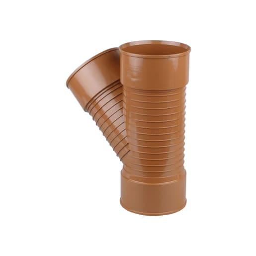 Osma UltraRib 45° Equal Junction Pipe 300mm Brown