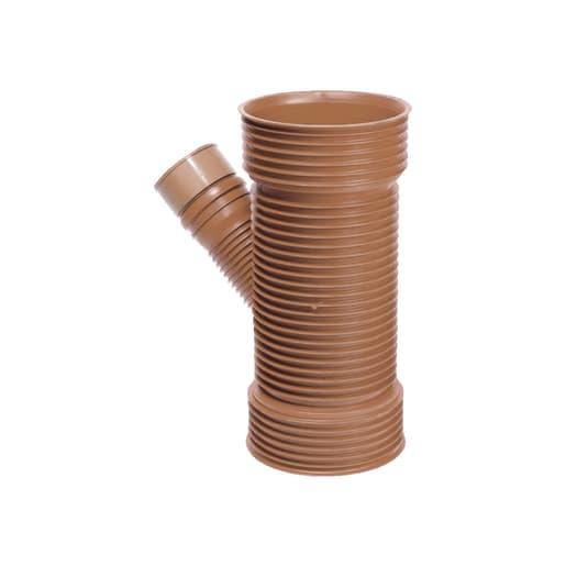 Osma UltraRib 45° Unequal Junction 300mm Brown