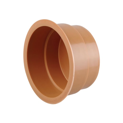 Osma UltraRib Plain Ended Socket Plug 300mm Brown
