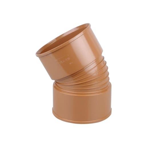 Osma UltraRib 30° Double Socket Bend 300mm Brown