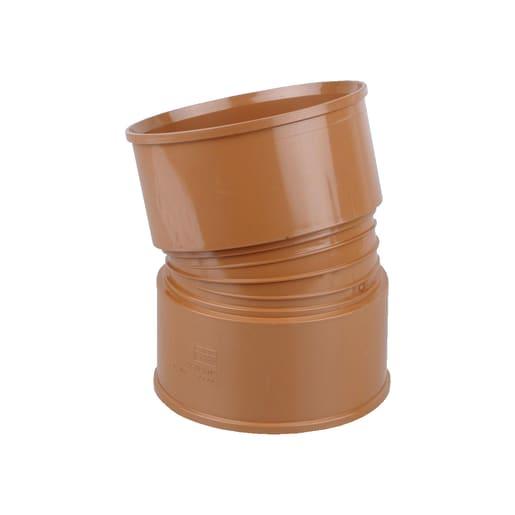 Osma UltraRib 15° Double Socket Bend 300mm Brown