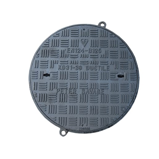 EJ Circular Clear Opening Manhole Cover and Frame 450mm Black