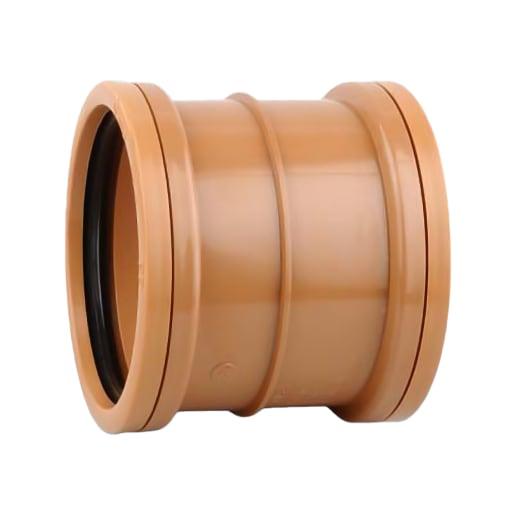 OsmaDrain Slip Coupler 110mm Brown