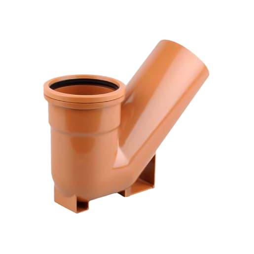 OsmaDrain Single Socket Universal Gully Trap 110mm Brown