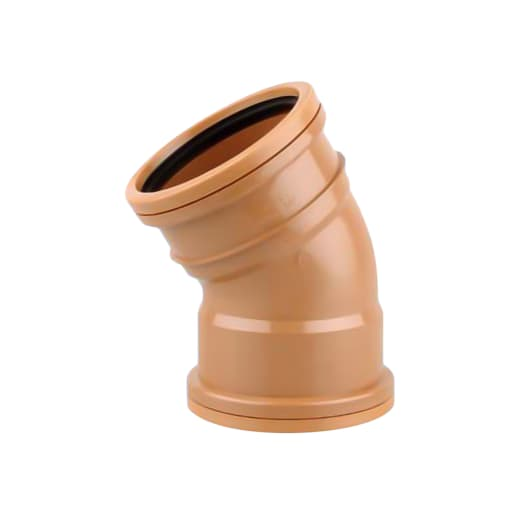 OsmaDrain 30° Double Socket Bend 110mm Brown