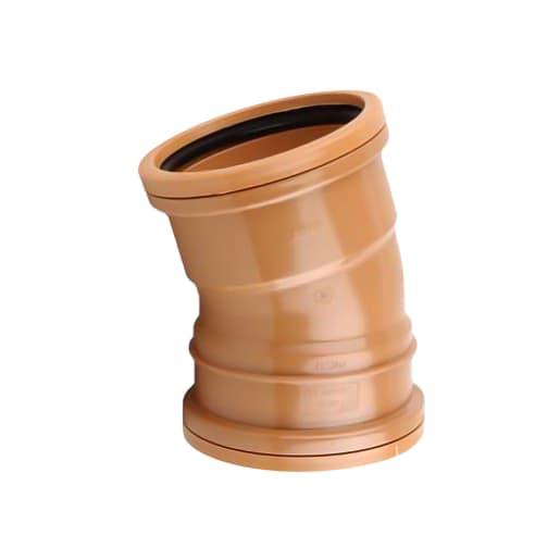 OsmaDrain 15° Double Socket Bend 110mm Brown