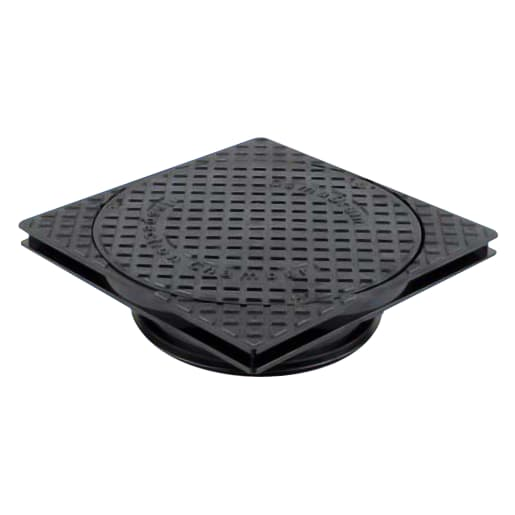 Osma Shallow Inspection Chamber Cover and Frame 250mm Black