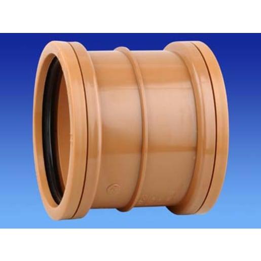 OsmaDrain Double Socket Slip Coupler 160mm Brown