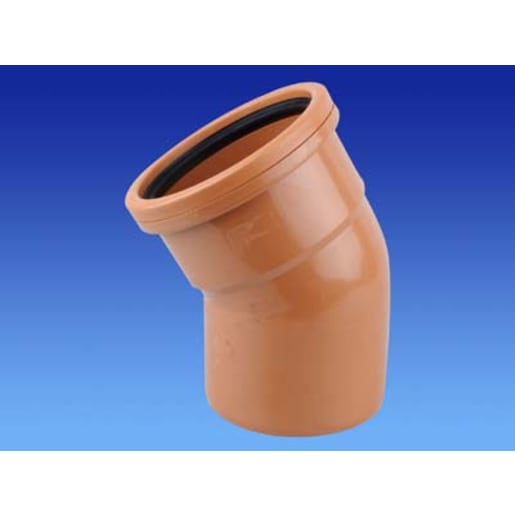 OsmaDrain 30° Single Socket Bend 75 x 160mm Brown