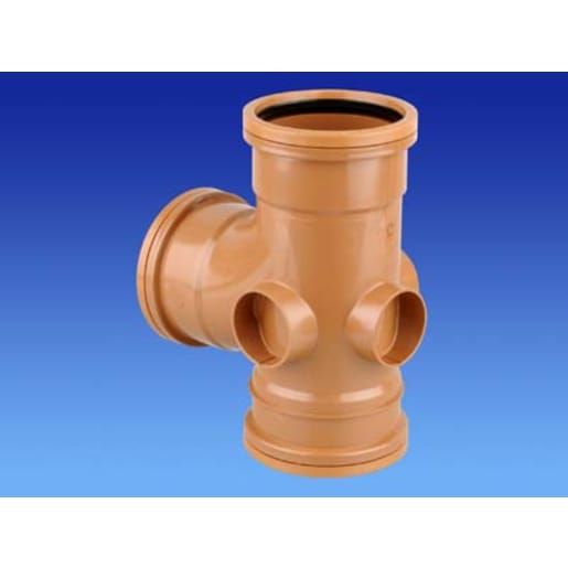 OsmaDrain87.5° Double Socket Junction 75 x 160mm Brown
