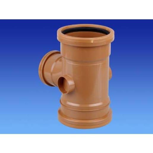 OsmaDrain 87.5° Double Socket Unequal Junction 75 x 160mm Brown