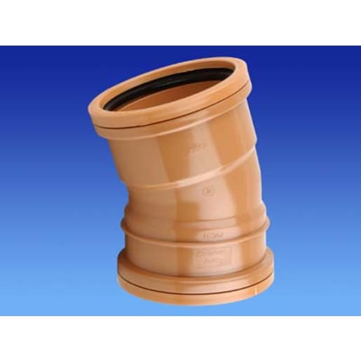 Osma 15° Double Socket Bend 75 x 160mm Brown