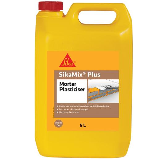 Sika Sikamix Plus Mortar Plasticiser 5 Litres Brown