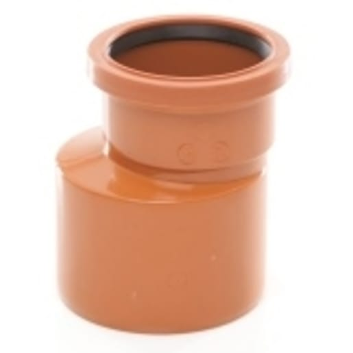 Polypipe Drain Level Invert Reducer Socket 160-110mm Terracotta