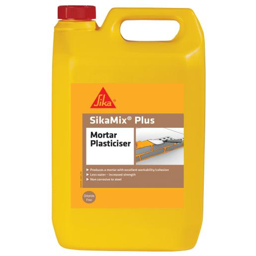 Sika Mix Plus Mortar Plasticiser 25 Litres Brown