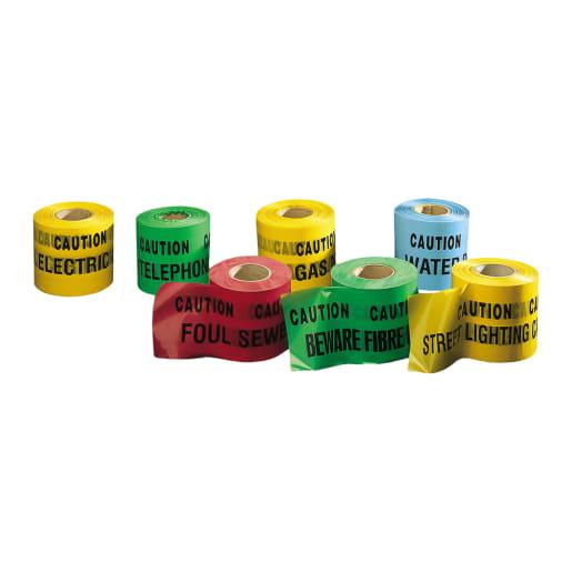 Underground Hazard Warning Tape 365m Gas