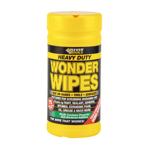 Everbuild Heavy Duty Wonder Wipes Pack of 75 Yellow