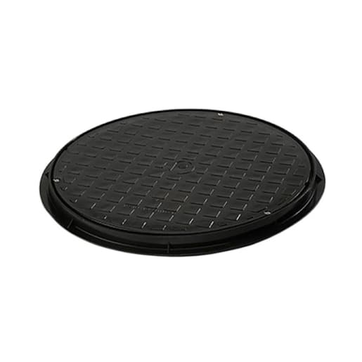 Polypipe Drain Circular Cover and Frame 460mm Black