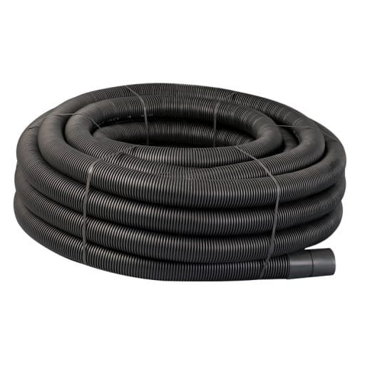 Naylor Agri-Drain Perforated Land Drain Pipe 50m x 80mm Black