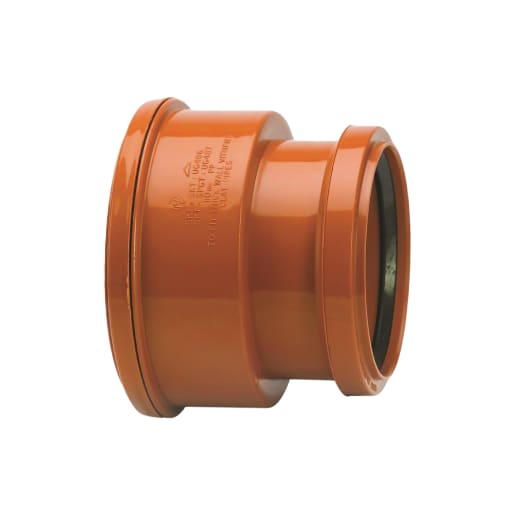 Polypipe Drain Thick Clay Socket Adaptor 110mm