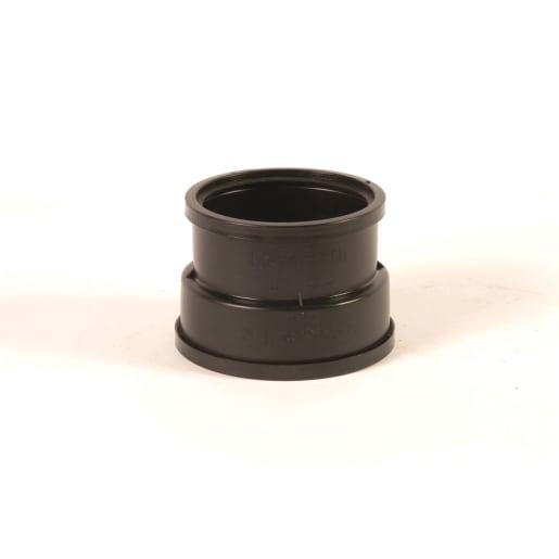 OsmaDrain Double Socket Adaptor to Clay Spigot 110mm Brown