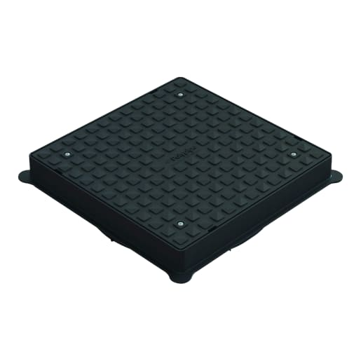 Polypipe Drain Square Cover and Frame 460mm Black