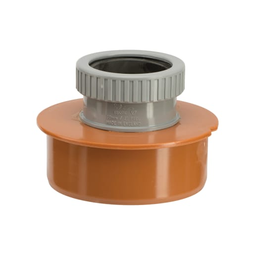 Polypipe Drain 110mm Socket to 50mm Single Waste Pipe Adaptor