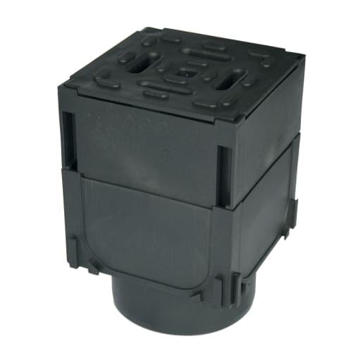 ACO HexDrain Brickslot Corner Unit Grating Outlet 125 x 125 x 193mm