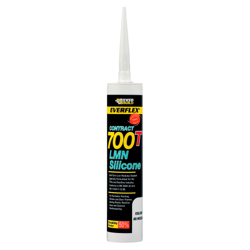Everbuild Everflex 700T PVCu and Roofing Silicone Sealant 300ml White