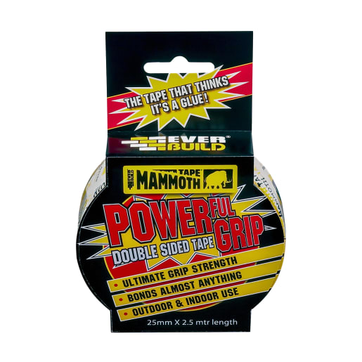 Everbuild Mammoth Powerful Grip Tape 2.5m x 25mm Clear