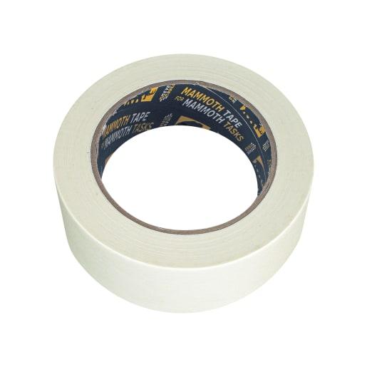 Everbuild Mammoth Value Masking Tape 50M x 25mm Ivory