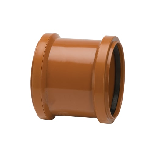 Polypipe Drain Double Socket Coupler 160mm Terracotta