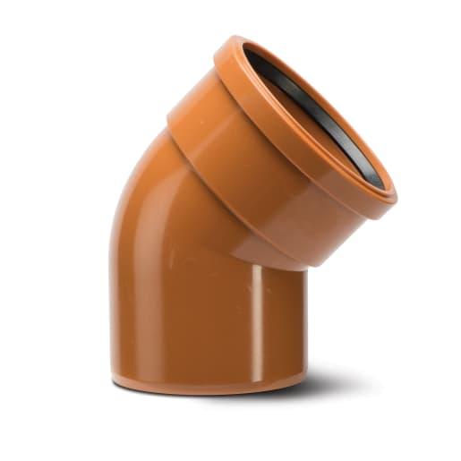 Polypipe Drain 30° Single Socket Bend 160mm Terracotta