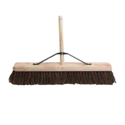 Faithfull Stiff Bassine Broom with Handle 610mm Natural