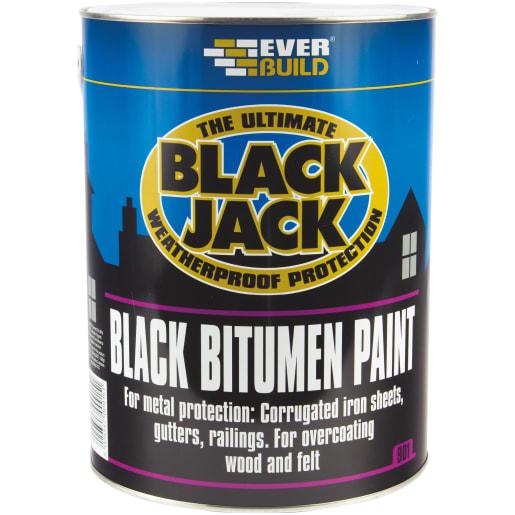 Everbuild Bitumen Paint 5 Litres Black