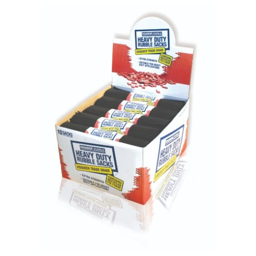 Visqueen Heavy Duty Rubble Sack Black Pack of 10