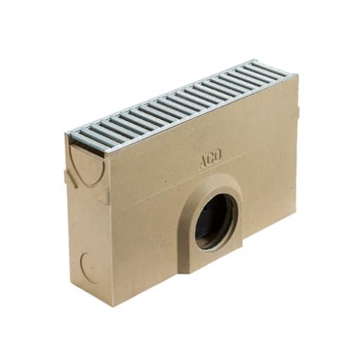 ACO RainDrain A15 Sump with Grating Silt Bucket 500 x 118 x 303mm