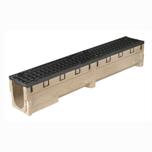 ACO S100 Level Channel S010 Cast Iron Rails 1m x 155mm