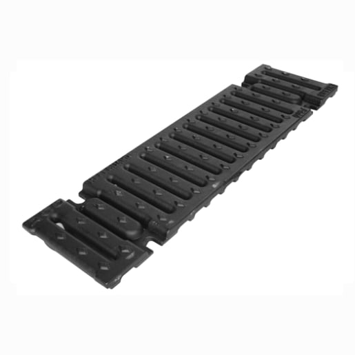 ACO S100 Slotted Heavy Duty Grate 500 x 139 x 15mm Ductile Iron