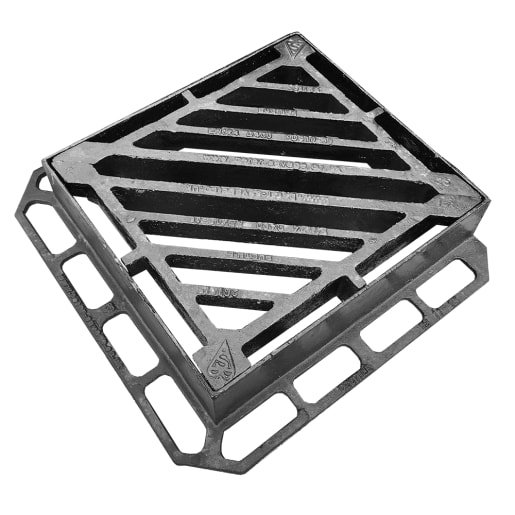EJ D400 Double Tri Integrity Gully Grating and Frame 440 x 400mm
