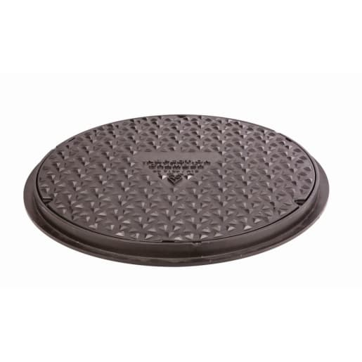 OsmaDrain Round Cover and Frame 450mm Black
