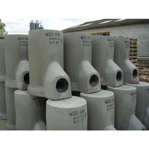 CPM Precast Concrete 50L Road Gully Trap 375 x 750 x 150mm