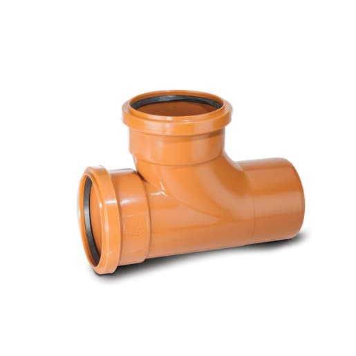 Polypipe Drain 87.5° Double Socket Equal Junction 160mm Terracotta
