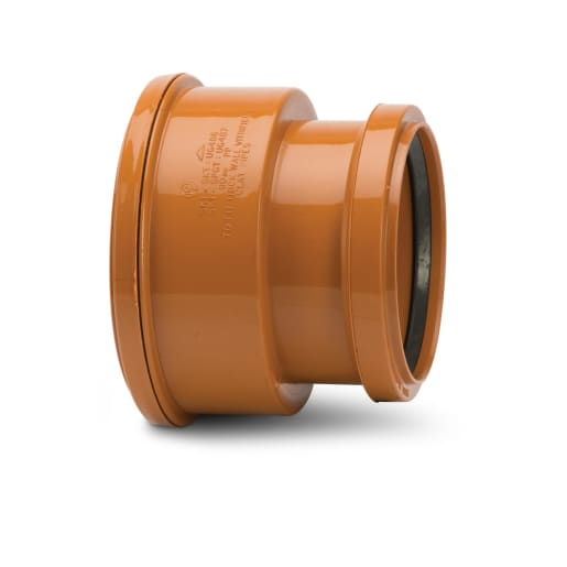 Polypipe Drain Thick Clay Pipe Adaptor to PVC Socket 160mm Terracotta
