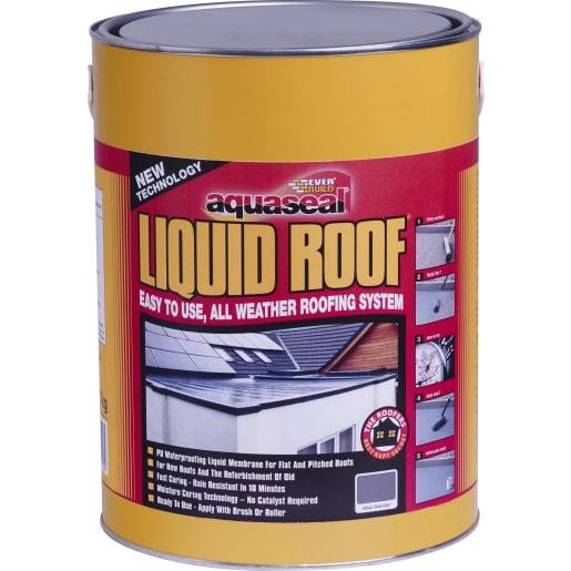Everbuild Aquaseal Liquid Roof Black 21Kg